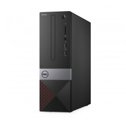 Computadora, DELL Vostro 3471, Procesador Intel Core i3-9100, Ram 4GB DDR4, Disco 1000GB, Formato SFF Negro, Gris, Rojo, Windows 10 Profesional