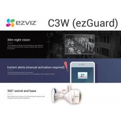 Cámara IP EZVIZ, wifi, Full HD, Disuasión activa, 1080p, Audio bidireccional, Protección IP66, Visión Nocturna, Sirena, Interior/Exterior