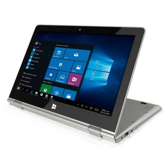 "Laptop Tablet 2 en 1 GHIA SHIFT 2 Convertible 360, Pantalla 11.6"" FHD IPS Touch, Intel X5-z8350, RAM 4GB , Disco SSD 64 GB, Mini HDMI, WIFI, Bluetooth 4, Windows 10 Home, 2N1C11ARH"