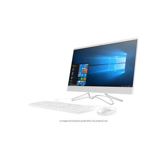 """Computadora HP Pavilion AIO 24-F029LA, 23.8"""" HD IPS Delgado, Procesador AMD A9-9425 DC 3.10GHz, RAM 8GB, Doble Disco Duro 1TB DD + 256GB SSD, Unidad Óptica DVD RW, WIFI + BT, Webcam, Garantía 1YR, Windows 10 Home, Color Blanco"""