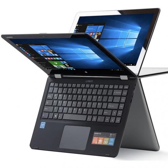 """Laptop Neuron Flex Lanix, Intel Celeron N3350, 2.4 GHz, Pantalla 13.3"""" FHD ángulo de giro 360°, RAM 4GB, Disco 64GB, Bluetotth 4.0, Windows 10 Pro 64 bits, IRON"""
