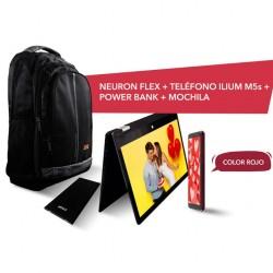 "Paquete Laptop Lanix Neuron Flex, Atom X5-E8000, 4GB RAM, Disco 64GB, 11.6"", Celular Lanix Ilium M5s, Android 9 y Mochila"