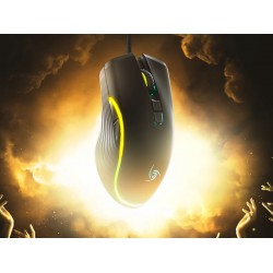 Mouse Gamer ambidiestro 100 gramos, sensor Instant A725F, 7200 DPI nativos, 60 IPS de velocidad, 20G de aceleración e iluminación RGB.
