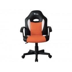 Silla Gamer, Stylos STGSGR1O, silla para videojuegos, Descansabrazo para juegos asiento acolchado Negro, Naranja
