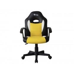 Silla Gamer, Stylos STGSGR1Y, silla para videojuegos, Descansabrazo para juegos asiento acolchado Negro, Amarillo