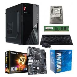 Computadora Armada, Pentium Gold G5400, RAM 4GB, Disco Duro 500GB, Teclado y Mouse